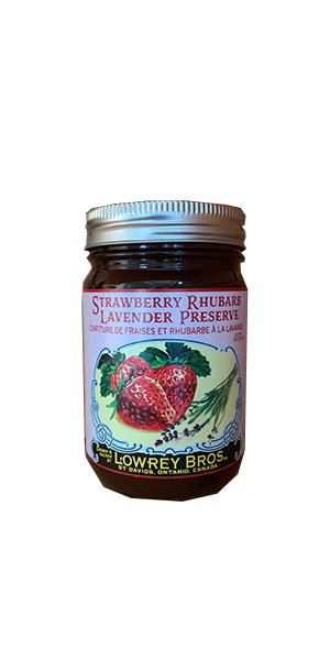 Lowrey Bros Strawberry Rhubarb Lavender Preserve